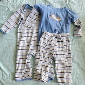 Baby boy airplane outfits.